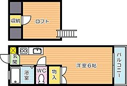 カーサマローン[2階]の間取り