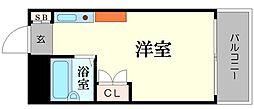 大国町池田マンション[9階]の間取り