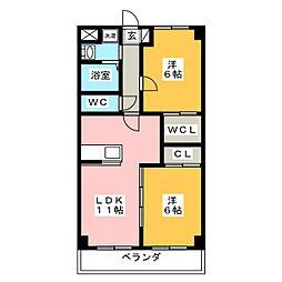 Mansion T.S.K[1階]の間取り