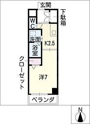 サンシティ畑江通[1階]の間取り