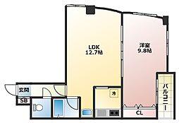 ルート中之島ビル[10階]の間取り