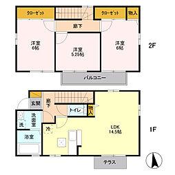 東京都国立市富士見台2丁目の賃貸アパートの間取り