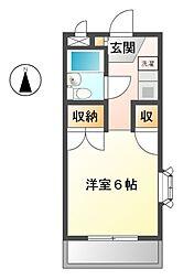 エミール小金井 学生限定[2階]の間取り
