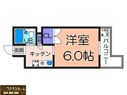 大阪府堺市堺区翁橋町1丁の賃貸マンションの間取り
