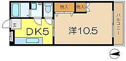 ヤマ昭ビル[4階]の間取り