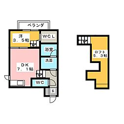 FAMILY STAGE道徳II[2階]の間取り
