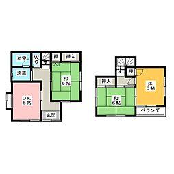 [一戸建] 愛知県知多市にしの台1丁目 の賃貸【愛知県 / 知多市】の間取り