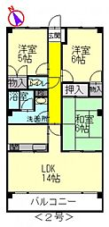 セントラル古江II[2階]の間取り