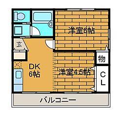 コーポイトー[1階]の間取り