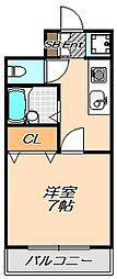 兵庫県神戸市灘区岩屋北町1丁目の賃貸マンションの間取り