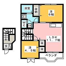 サンフォレスタ21  A棟[2階]の間取り