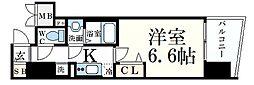 プレサンス神戸元町ミューズ 7階1Kの間取り