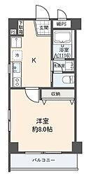 リブハピネス横浜[1階]の間取り