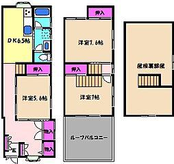 [一戸建] 兵庫県神戸市東灘区深江南町4丁目 の賃貸【/】の間取り
