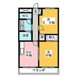 STONE BUIL II[2階]の間取り