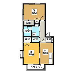 アルスKA[2階]の間取り