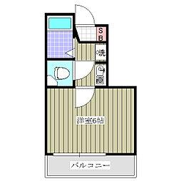 埼玉県熊谷市見晴町の賃貸マンションの間取り