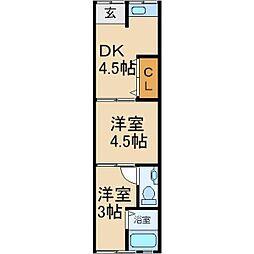 [テラスハウス] 大阪府寝屋川市国松町 の賃貸【大阪府 / 寝屋川市】の間取り