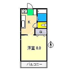 コーポブルースカイ[2階]の間取り