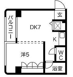 パンルネックス・クリスタル博多I[2階]の間取り