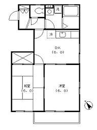 東京都町田市鶴間6丁目の賃貸マンションの間取り