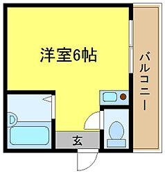 アイエムタワー[603号室]の間取り