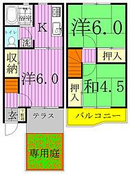 [テラスハウス] 千葉県野田市堤根 の賃貸【/】の間取り
