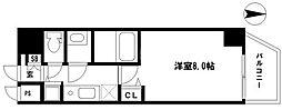 EARTHMANS OSAKA-JO(アースマンズ大阪城) 6階1Kの間取り