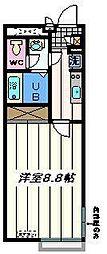 東京都葛飾区亀有4丁目の賃貸マンションの間取り
