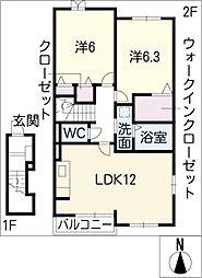 アロッジオII[2階]の間取り