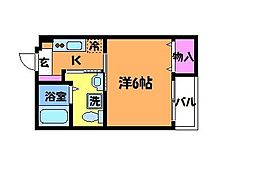 ルーブル調布壱番館[1階]の間取り