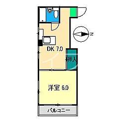 フィオーレ87[3階]の間取り