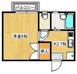 LS祇園[203号室]の間取り