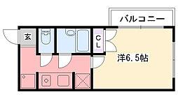 ヌーベル甲子園[301号室]の間取り