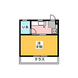 メゾン・サージュ[1階]の間取り