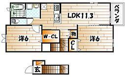 カンパーニュB[2階]の間取り