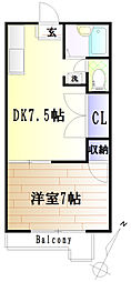 ハイツカジヤマ[203号室]の間取り