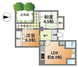 西長堀ドリームマンション[1階]の間取り