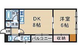 川端マンション[203号室]の間取り