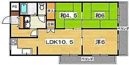 クラウンマンション[205号室]の間取り