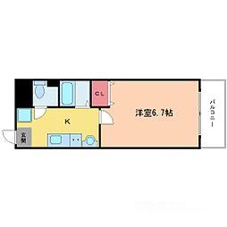 フローライト新大阪[5階]の間取り