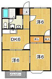 星第3アパート[321号室号室]の間取り