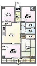 サンライト南浦和2番館[7階]の間取り