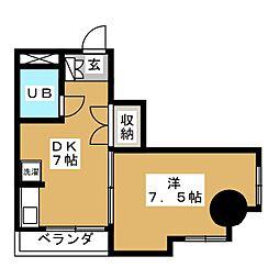 キャッスル北沢[4階]の間取り