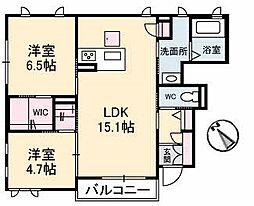 仮称)シャーメゾン東野[101号室]の間取り