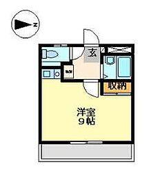 静岡県沼津市一本松の賃貸アパートの間取り