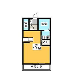 フォンテーヌC[1階]の間取り