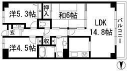 ルネ門戸西棟[11階]の間取り