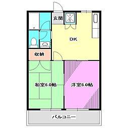 東京都西東京市栄町3丁目の賃貸アパートの間取り