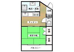 高桐マンション[5階]の間取り